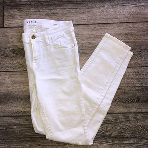 FRAME Le Skinny de Jeanne white jean sz 28